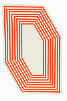 , 'Untitled (Hexagon Florescent Orange Stripes),' 2012, Anglim Gilbert Gallery