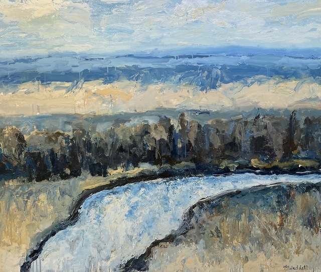 Theodore Waddell, 'Beaverhead River', 2008, Painting, Oil, encaustic on canvas, Visions West Contemporary