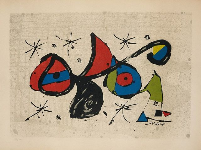 Joan Miró, 'Homenaje a Joan Miró', 1978, Invertirenarte.es