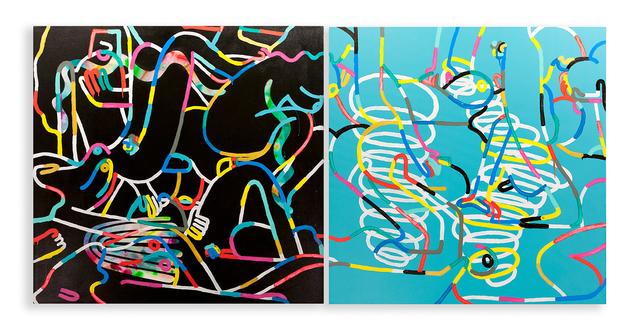 , 'An Orgy of Lines (Diptych),' 2015, Garis & Hahn