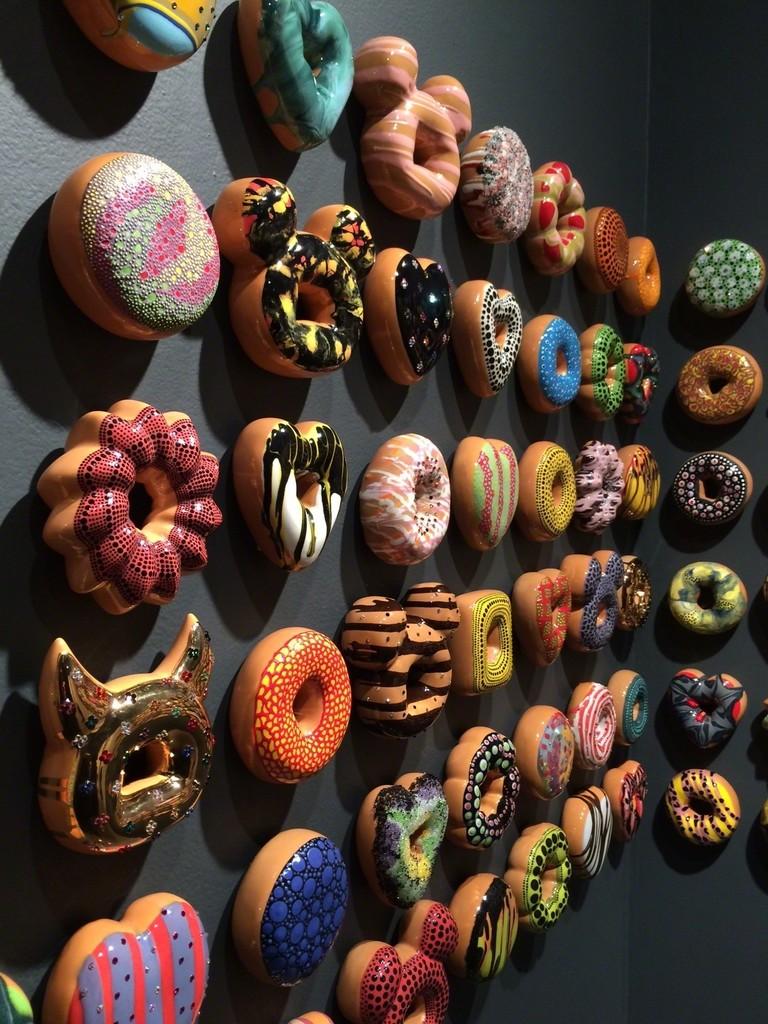 "Jae Yong Kim ""Donut Rush"" installation view"