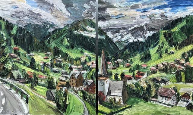 , 'Saanen-Panorama,' 2018, GALERIE URS REICHLIN