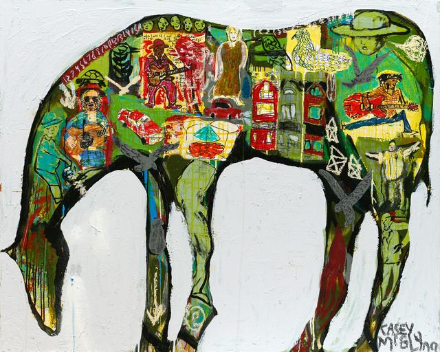 , 'Green Horse,' 2018, Newzones