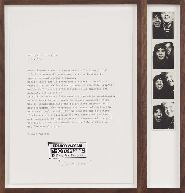 Franco Vaccari, 'Photomatic d'Italia', 1972-1974, P420