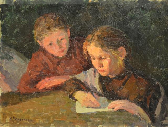 Nadezhda Eliseevna Chernikova, 'Writing a letter', Surikov Foundation