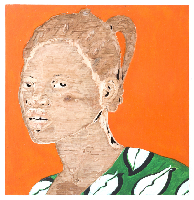 Aimé Mpane, 'XI', 2014-2019, Painting, Acrylic and mixed media on wood panel, Haines Gallery