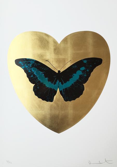 , 'I Love You - Gold Leaf/Black/Turquoise,' , Hamilton-Selway Fine Art