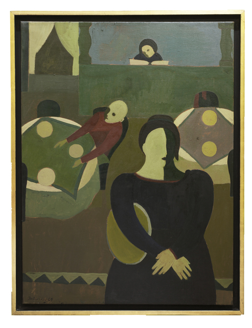 Emilia Gutiérrez, 'Trilogía', 1969, Painting, Oil on canvas, Cosmocosa