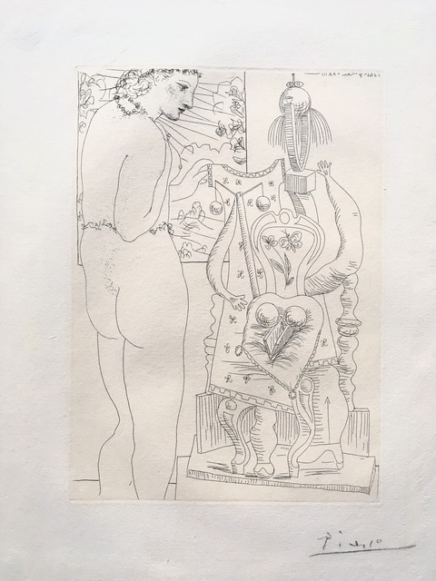 Pablo Picasso, 'Modele et sculpture surrealiste (Marie-Therese)', 1933, Isselbacher Gallery