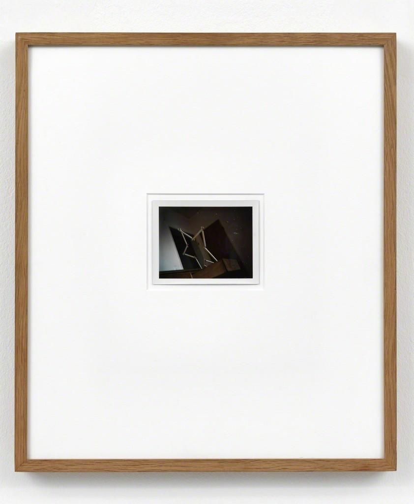 Sigmar Polke Zollstockstern (Düsseldorf, Feldstrasse), 1970 Polaroid Unique 8.5 x 10.8 cm / 3 1/3 x 4 1/4 in Framed: 44.2 x 38.6 x 3.5 cm