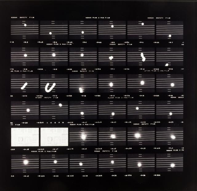 , ''moon' score, December 19, 1975,' 1975, Grey Art Gallery