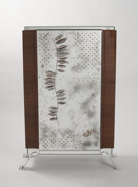 , 'Rare Eglomisé Cabinet,' ca. 1937, Maison Gerard