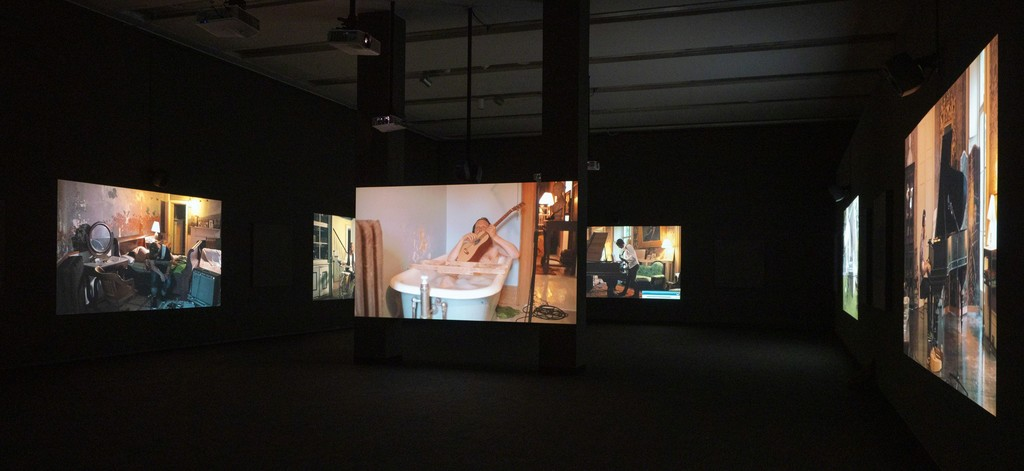 Installation view of Ragnar Kjartansson: Scandinavian Pain & Other Myths (Phoenix Art Museum, Arizona, November 3, 2018 – April 14, 2019). Photograph by Airi Katsuta.