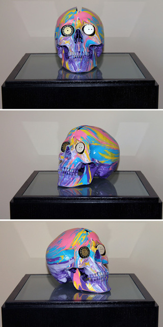 , 'The Hours Spin Skull #1,' 2009, Kenneth A. Friedman & Co.