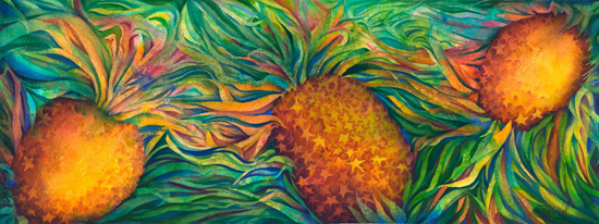 , 'Tumbling Pineapples,' 2013, Tiffany's Art Agency