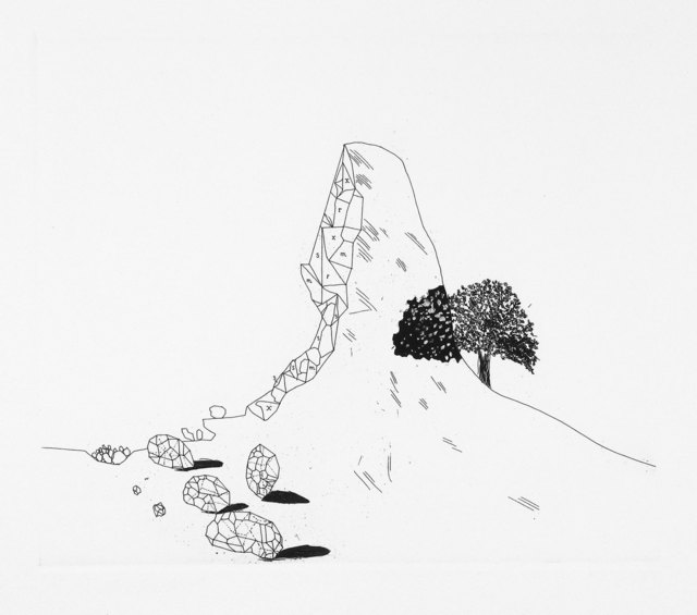 David Hockney, 'The Glass Mountain Shattered', 1969, Print, Aquatint and etching, Goldmark Gallery