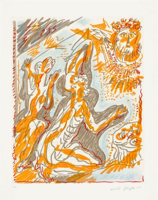 """André Masson, ' Philémon et Baucis des """"Amants Célèbres""""', 1979, Print, Etching, Le Coin des Arts"""
