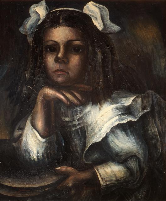, 'Retrato de María Asúnsolo niña,' 1935, Museo Nacional de Arte (MUNAL)