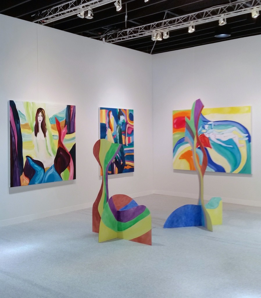 Installation view, Edith Beaucage, SKIPPER, @ VOLTA NY