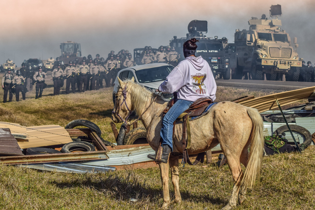 ", '""Defend The Sacred"": Standing Rock, Cannon Ball, North Dakota, 2016 ,' , Monroe Gallery of Photography"