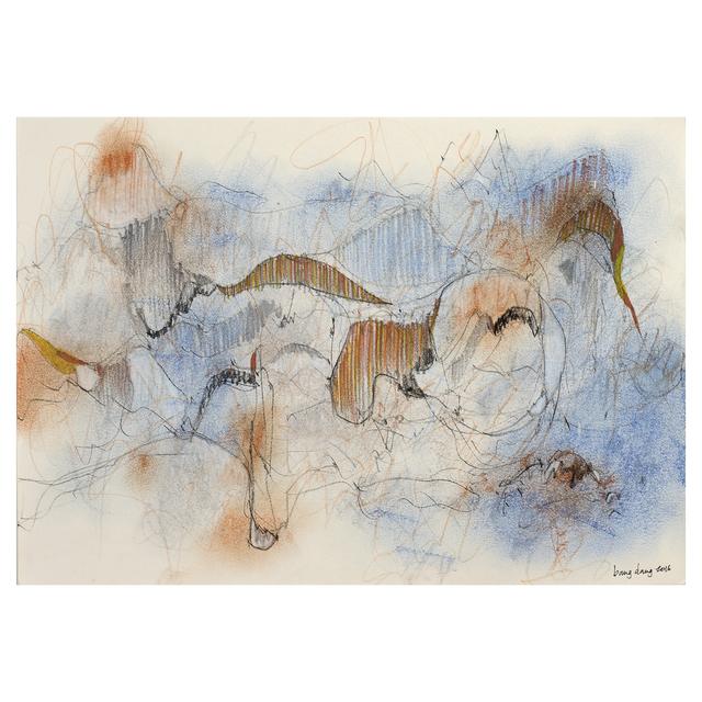 , 'Dancing Lines with Blue Orange,' 2016, Jen Mauldin Gallery