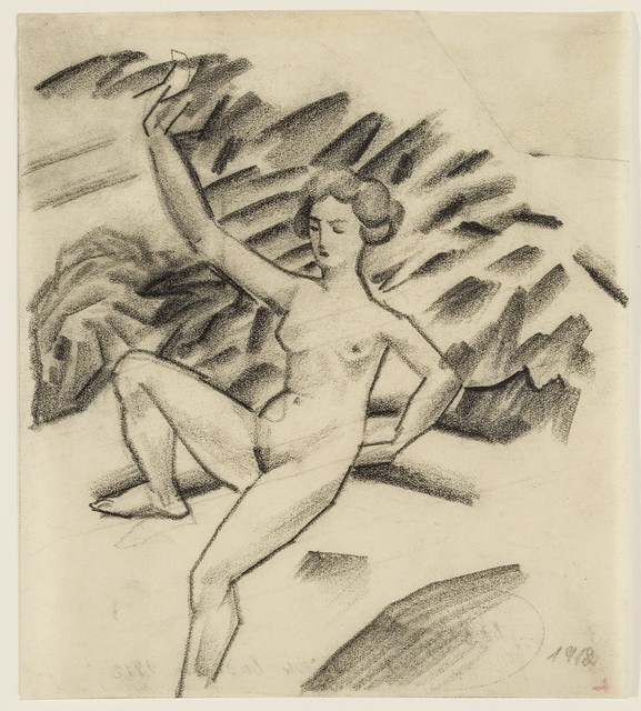 , 'Stilisierte Badende (Stylized bathing woman),' 1912, Galerie Thomas
