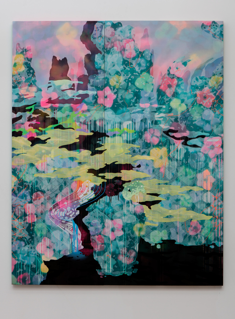 , 'The Black Lake I (A Blue Landscape),' 2015, Erin Cluley Gallery