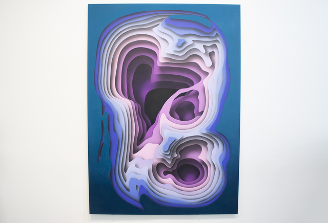 1010, 'New Blue', 2019, Avenue des Arts