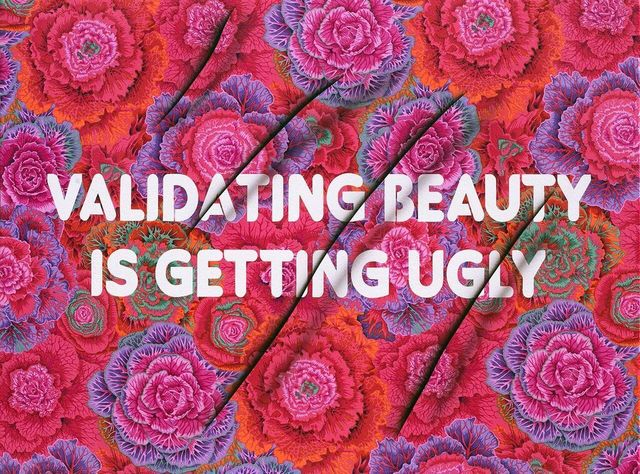 , 'Validating Beauty is Getting Ugly,' 2017, River