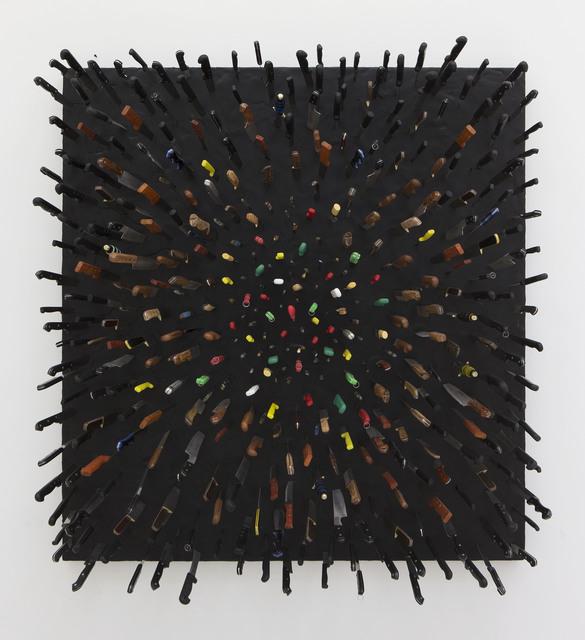 Farhad Moshiri, 'Colored Knives on Black', 2013, Perrotin