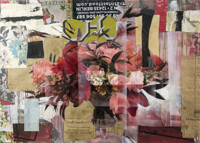 Peter Hoffer, 'Arrangement in Red', 2019, Painting, Acrylic, collage with plexiglass, Oeno Gallery