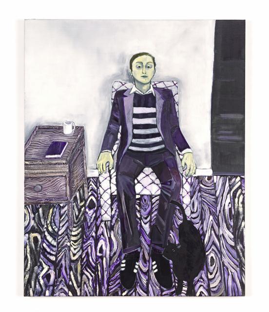 Raffi Kalenderian, 'Self Portrait (Purple Haze)', 2007, Painting, Oil on canvas, Buchmann Galerie