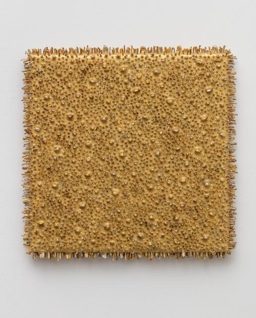 , 'Square object #01 (gold),' 2016, Anne Mosseri-Marlio Galerie