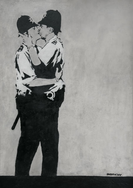 Banksy, 'The Kissing Coppers, Brighton', ca. 2005, Geoffrey Diner Gallery