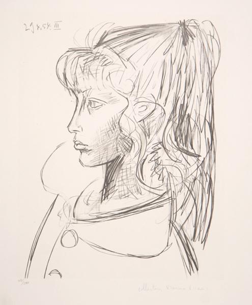 Pablo Picasso, 'Sylvette de Profil Gouche', 1979, Broadway fine Art