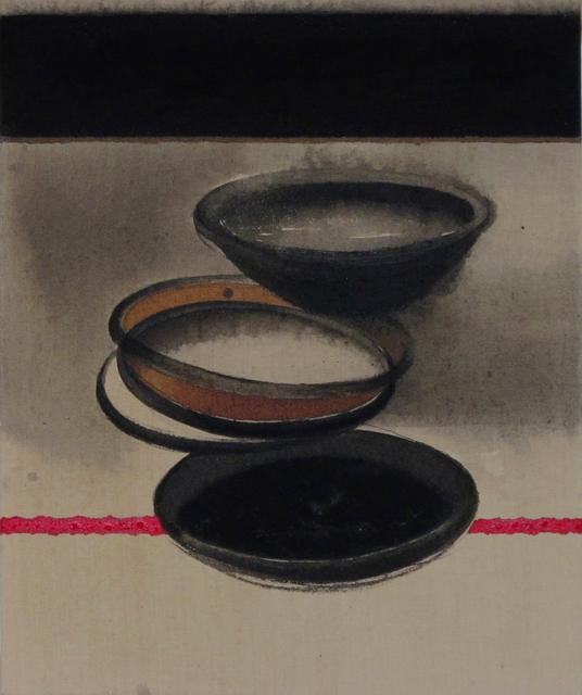"Madhu Basu, 'Magma n°247, Acrylic & Pigment on canvas, Black, Red, Grey, Brown ""In Stock""', 2019, Gallery Kolkata"