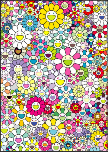 Takashi Murakami, 'SHANGRI-LA SHANGRI-LA MULTICOLOR ', 2018, Print, 4c offset + cold stamp, Dope! Gallery