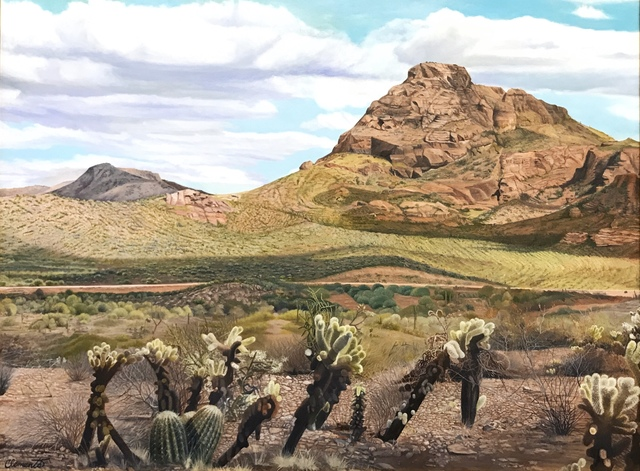 , 'The Cholla at Red Mountain,' ca. 2019, {9} The Gallery