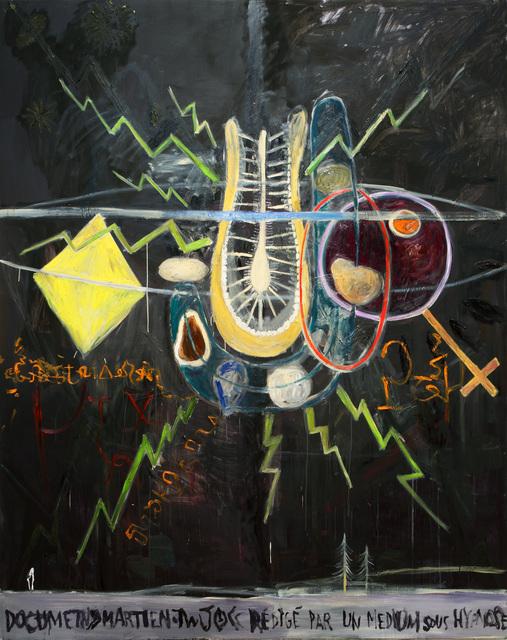 , 'Document martien rédigé par un médium sous hypnose,' 2013, Galerie Nathalie Obadia