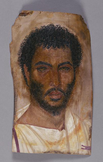 'Mummy Portrait of a Bearded Man', ca. 150 -170, J. Paul Getty Museum