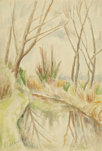 Marie Vorobieff Marevna, ''Athelhampton Jardin'', 1955, Roseberys