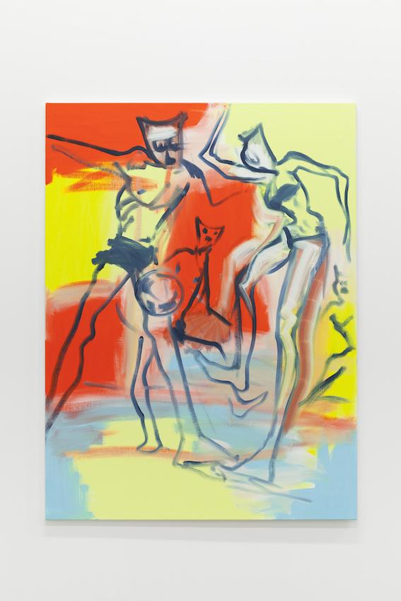 Alain Séchas - Foot sur plage 2016 Oil on canvas