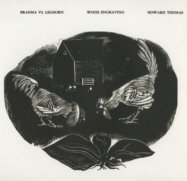 Howard Thomas, 'Brahma v. Leghorn ', 1937, David Barnett Gallery