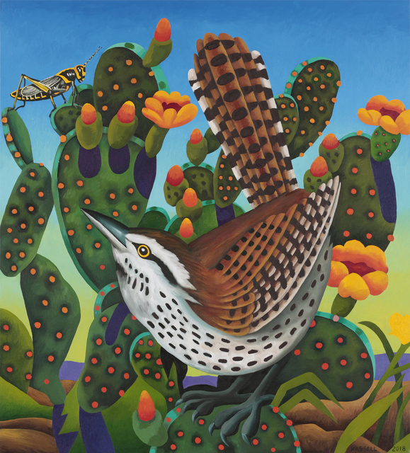 , 'Cactus Wren - Eye on the Prize,' 2018, William Reaves | Sarah Foltz Fine Art