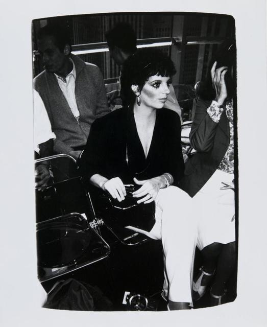 Andy Warhol, 'Andy Warhol, Photograph of Liza Minnelli, 1982', 1982, Hedges Projects