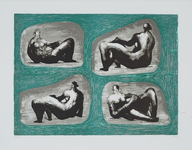 Henry Moore, 'Four Reclining Figures: Caves', 1974, Evelyn Aimis Fine Art