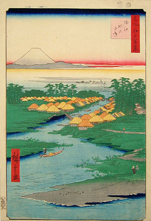 , 'One Hundred Famous Views of Edo: Nekozane at Horikiri Canal,' 1856, Scholten Japanese Art