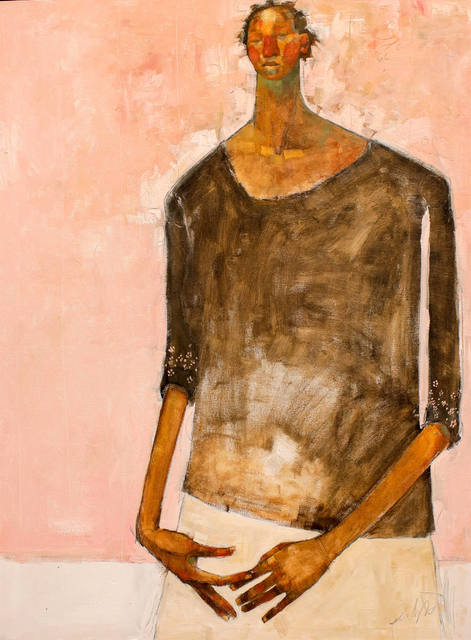 , 'Woman on Pink ,' 2018 , Out of Africa Gallery