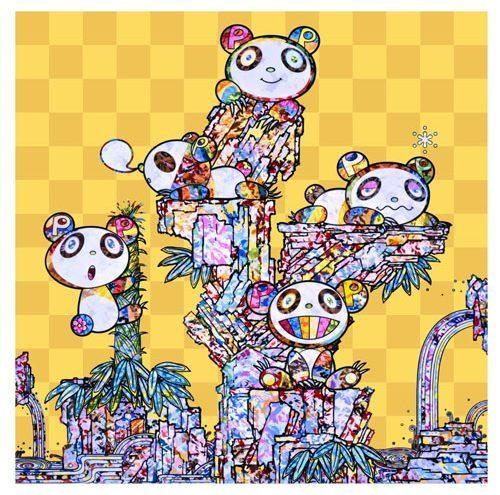 Takashi Murakami, 'PANDAS PANDA CUBS PANDAS', 2019, Print, 4c offset + cold stamp, Dope! Gallery