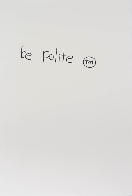 , 'Notes to Basquiat: Be Polite,' 1998, Contemporary Art Gallery